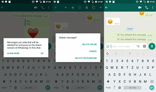 Cum sterg mesajele trimise din greseala pe WhatsApp?