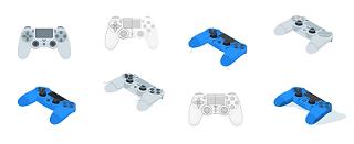 Cum diferentiez controllerul PS4 v2 fata de v1?